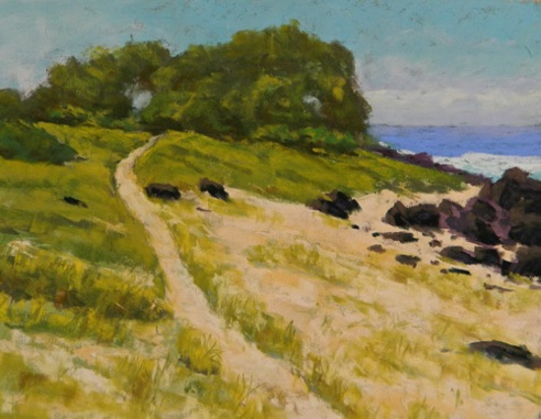 Sandy Path to Shade 9x12  Pastel