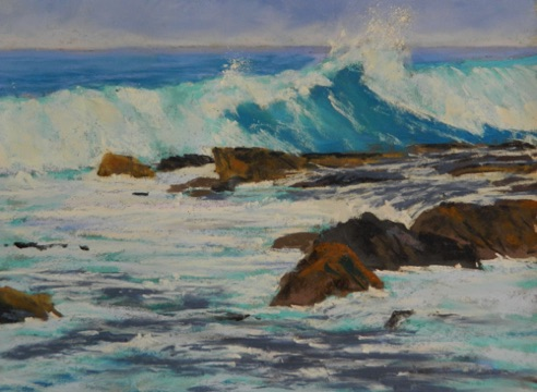 Shore Break Wawaloli 9x12  Pastel