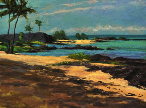 Honokohau Fish Trap 9x12 pastel