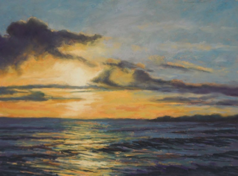 Sunset From Paradise Park   12 x 16  Pastel