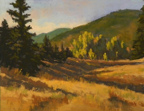 Morning Meadow 9x12  Pastel