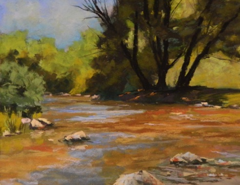River's Shade 11x14  Pastel