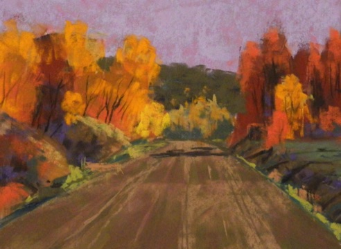 Fall Comes Quick 8x10  Pastel