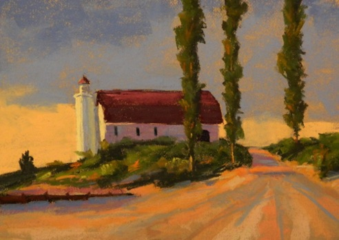 Betsy Point Lighthouse 12x16  Pastel