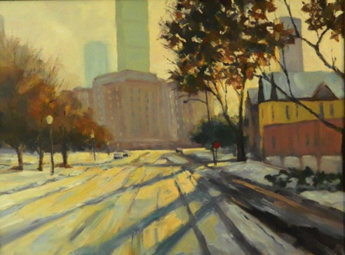 Sunday Morning Downtown 18x24  Oil