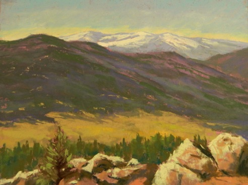 Mt. Falcon View 11x14    Pastel