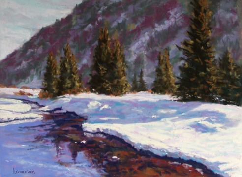 East Vail Reflections 12x16   Pastel