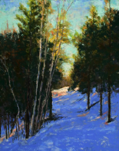 Lodgepole Loop Trail 20x16    Pastel