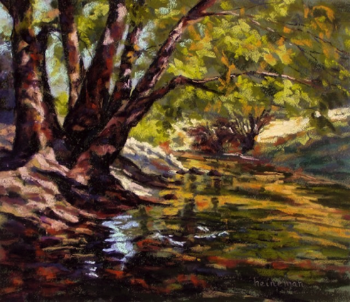 Bear Creek In Evergreen 13x15    Pastel