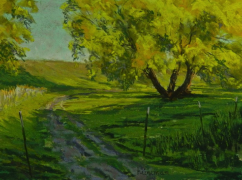 Harriman Path 9x12 Pastel