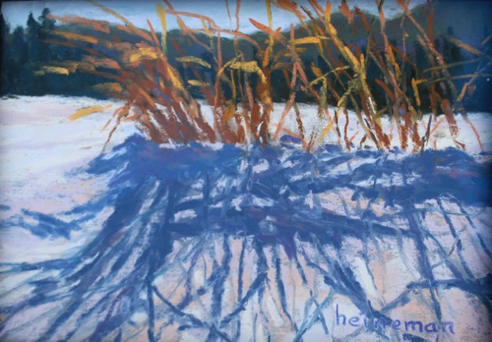 Grass In Gold 5x7    Pastel